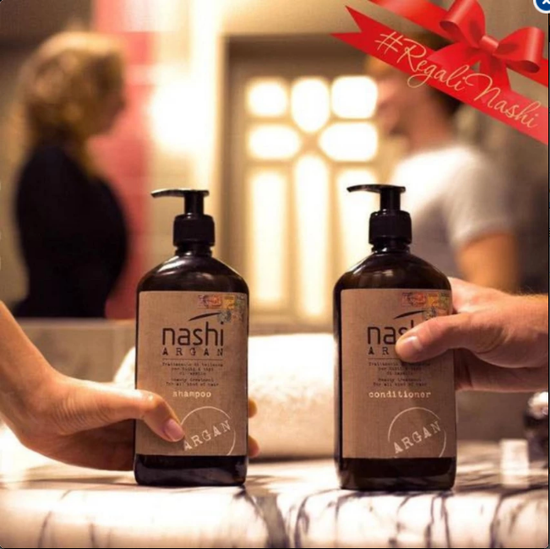 Combo cặp dầu gội - xả dưỡng phục hồi tóc Nashi Argan 500ml