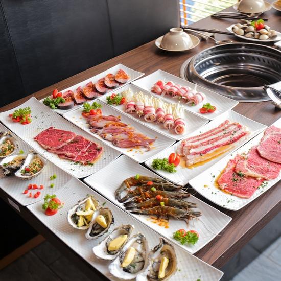 Buffet nướng lẩu cao cấp HongKong New free đồ uống