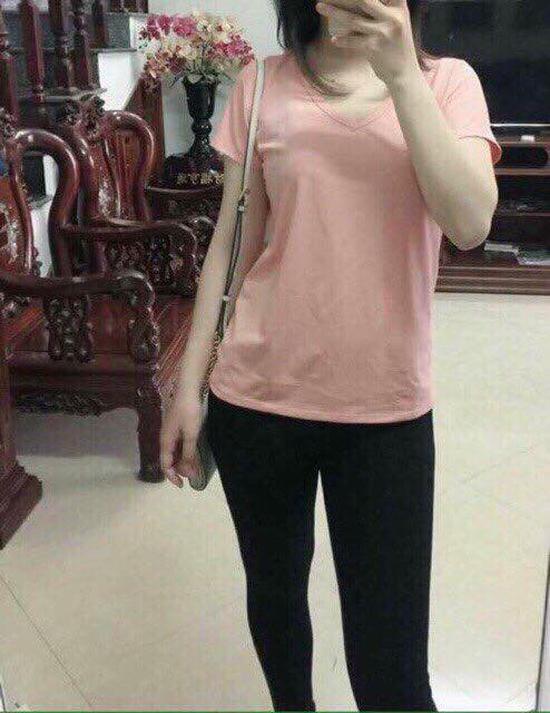cb 2 áo phông cổ tim