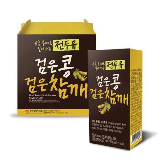 16 hộp Sữa Mè Đen, Đậu Đen Hàn Quốc ( 200ml/hộp)