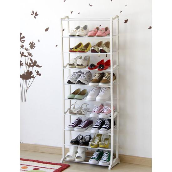 Kệ giày 10 tầng Amazing Shoe Rack A62 trắng ₫99.000