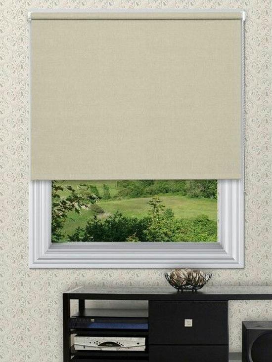 Rèm cửa cuốn màu nâu sáng (3A-24) rộng 100cm cao150cm