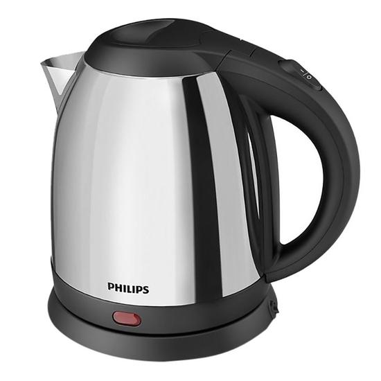 Bình đun siêu tốc Philips HD9303 1800W 1,2L (Bạc) (Hàng chính hãng)