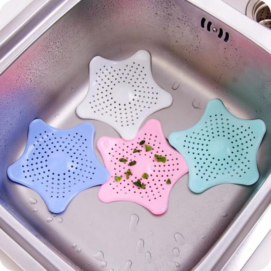 2 miếng lót bồn rửa , nắp cống hình sao