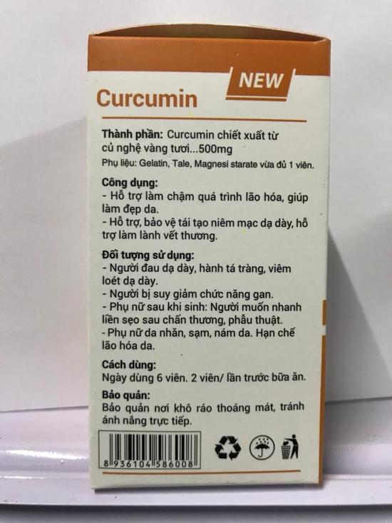 60 Viên nang tinh bột nghệ Curcumin