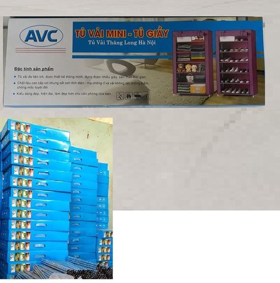 Tủ giày khung ống sắt mạ kẽm 6 tầng cực chắc, hàng Việt Nam, thương Hiệu AVC- Thăng Long
