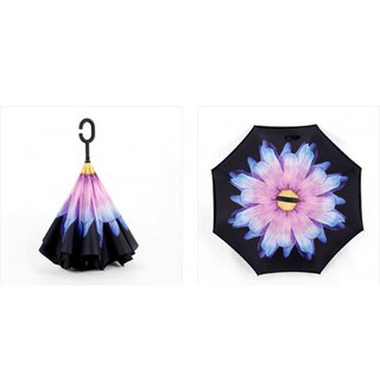 Ô gấp ngược 3D in hình hoa độc đáo.