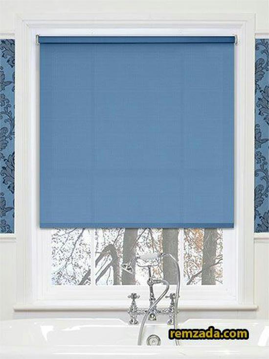 Rèm cuốn màu xanh  -022