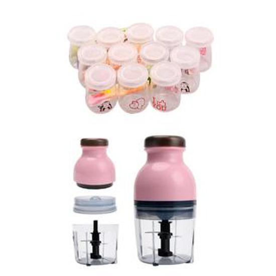 12 hũ thủy tinh làm sữa chua, pudding có họa tiết tặng kèm máy xay đa năng Osaka