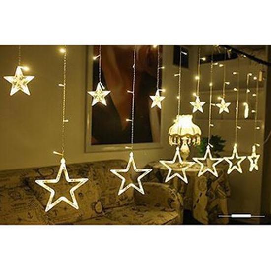 Đèn nháy thả mảnh hình ngôi sao và hình dây
