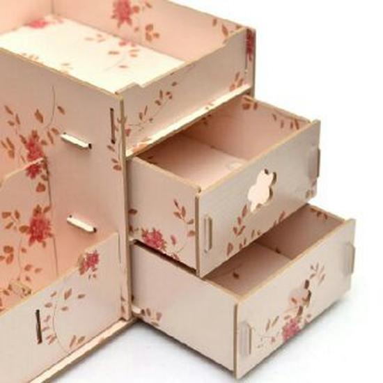 Kệ đựng mỹ phẩm nhiều ngăn bằng gỗvrg1195