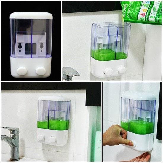Hộp đựng nước rửa tay loại 2 ngăn