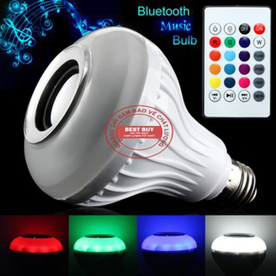 Loa Bluetooth Kiêm Đèn LED Điều Khiển 12 Màu