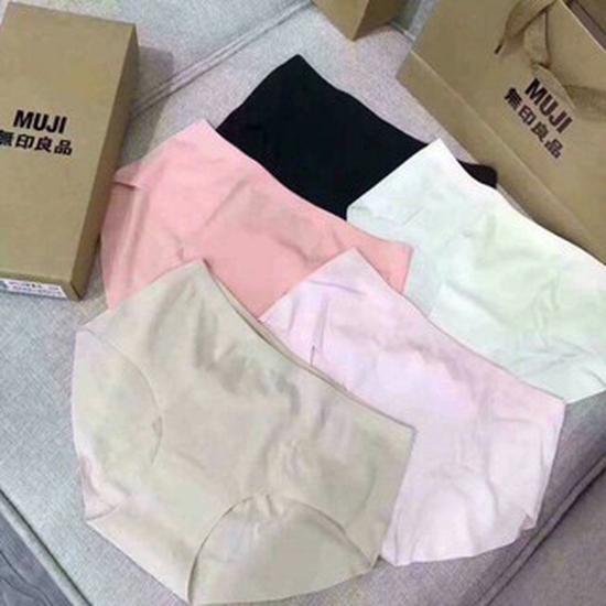 Quần lót nữ Muji nhật không đường may hộp 5 chiếc siêu đẹp. Hàng Có túi có hộp như hình.