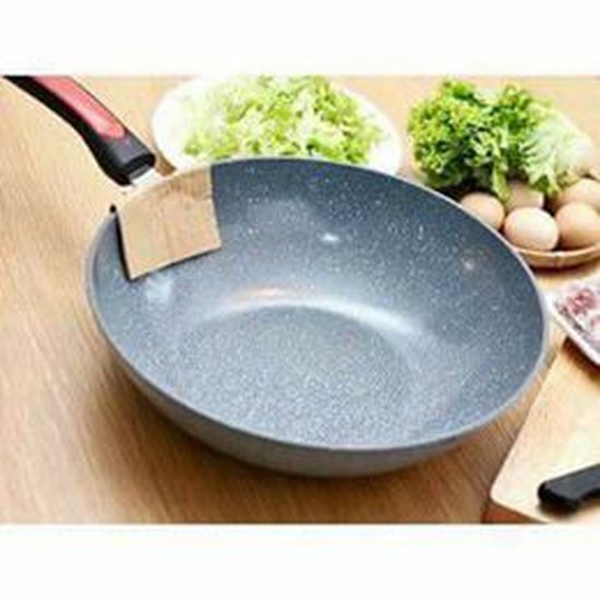 CHẢO VÂN ĐÁ SÂU LÒNG CHỐNG DÍNH SIZE 32CM dùng cho mọi bếp