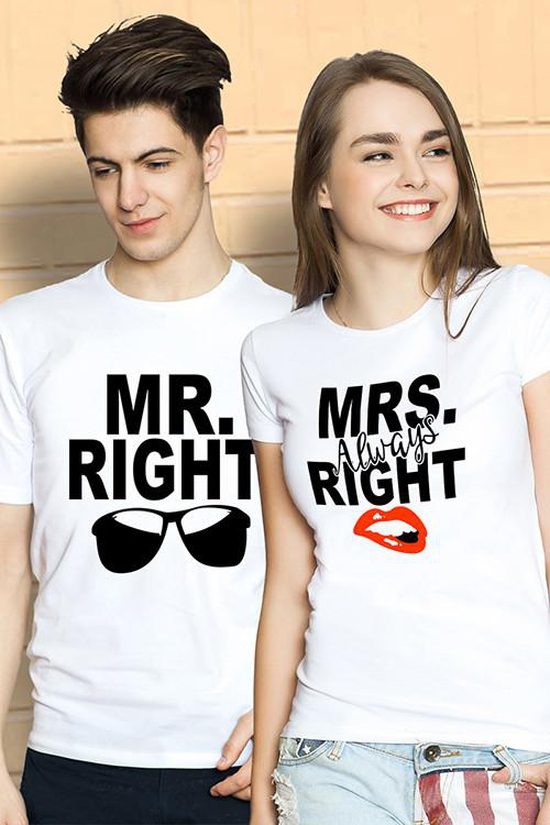 MR. AND MRS. RIGHT – Áo Đôi