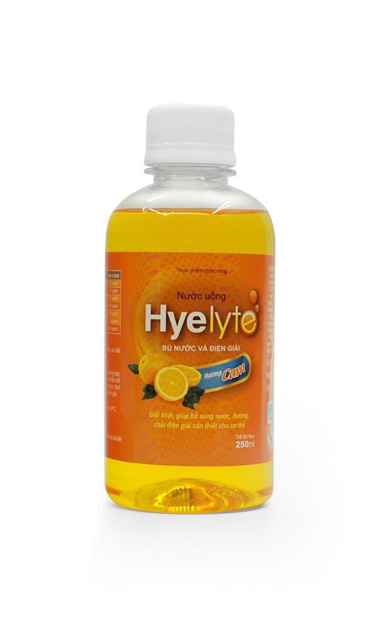 Combo 2 chai TPCN bù nước và điện giải Hyelyte 250ml - Hương cam