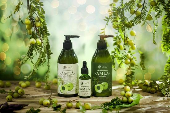 Bộ sản phẩm dầu gội xả đầu kích thích mọc tóc, ngừa rụng tóc Amla Laco