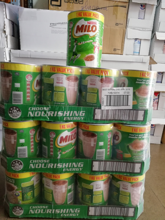 Sữa Bột Nestle Milo 1kg/Hộp Úc