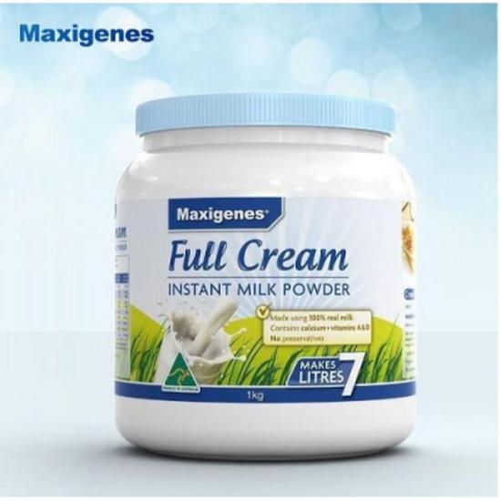 Sữa Tươi Dạng Bột Maxigenes Full Cream Instant Milk Powder 1kg/Hộp Úc