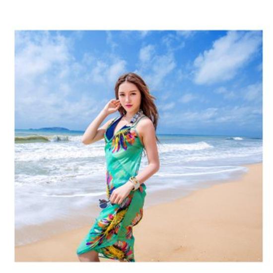 Khăn Tắm Hoa Hướng Dương - Xanh Dương