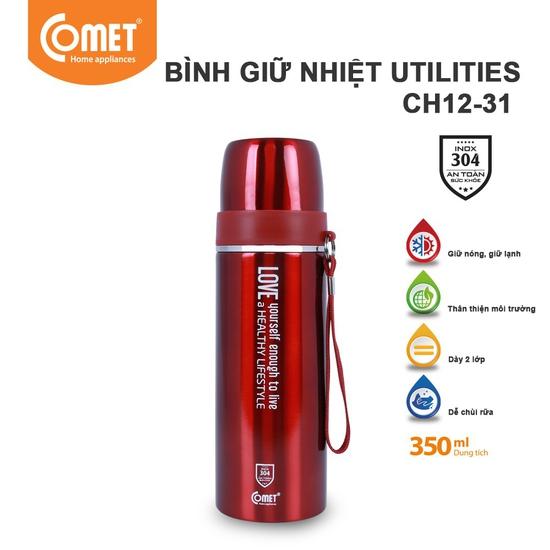 Bình giữ nhiệt Comet Utilities CH12-31 350ml (Xanh Dương)