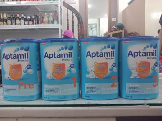 Sữa Bột Aptamil Milupa Các Số 1,2,3,Pre Nội Địa 800g/Hộp Nhựa Xanh Đức