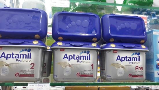 Sữa Bột Aptamil Milupa Pro-futura Các Số 1,2,Pre Nội Địa 800g/Hộp Nhựa Bạc Lùn Đức