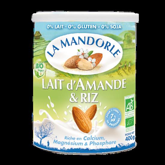 Sữa Bột Hạnh Nhân Gạo Organic La Mandorle 400g/Hộp Pháp
