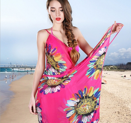 khăn Tắm Hoa Hướng Dương - Hồng