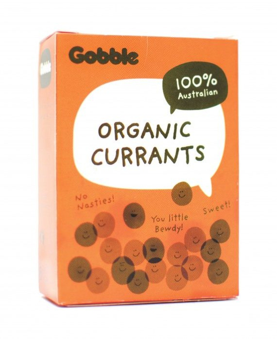 Gobble – Nho hữu cơ Currant hộp 6* 35g