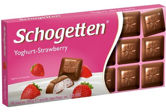 COMBO 2 thanh Sôcôla 13 vị Schogetten – Vị sữa chua dâu 2*100g