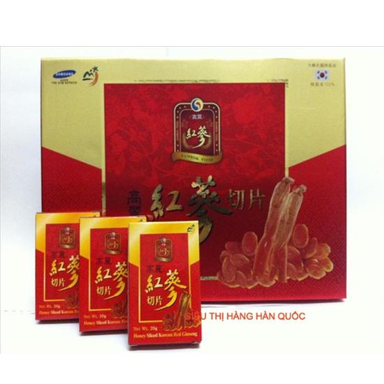 Hồng sâm lát tẩm mật ong Hàn Quốc SAMBOK 200g loại đặc biệt hồng sâm đỏ với mật ong tinh khiết Tốt