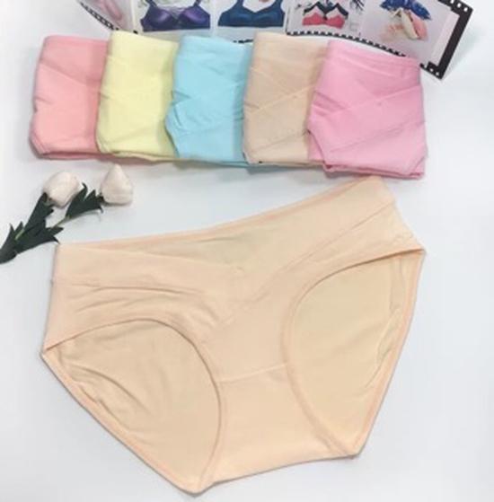 Set 5 quần chip bầu cạp thấp tạo sự thoải mái cho mẹ và bé hàng loại 1
