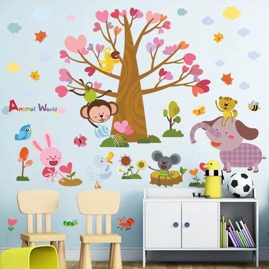 Decal dán tường thế giới động vật cho bé XL8298