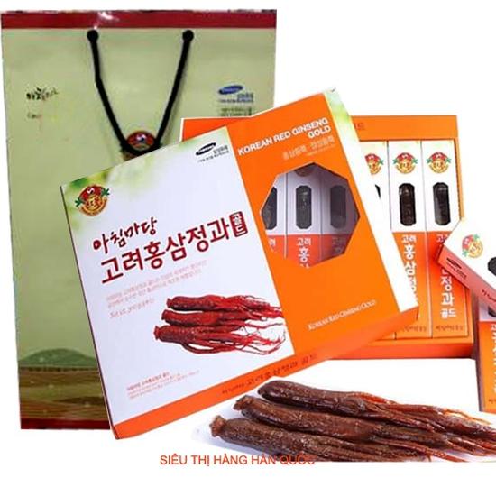 Sâm Củ Tẩm Mật Ong Hàn Quốc Thượng Hạng Achimmadang Red Ginseng 300g (8 củ) - Hàng chính hãng Tốt