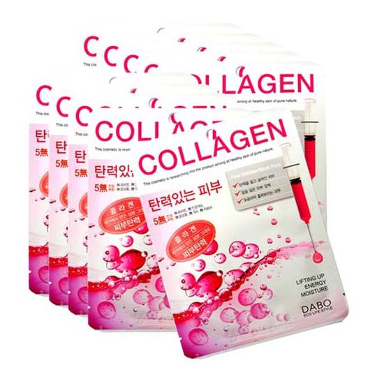 Mặt nạ Collagen DaBo Hàn Quốc tái tạo, chống lão hóa da ( 1 Túi x 10 miếng) Tốt