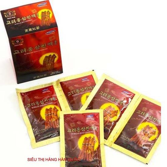 Tinh chất hồng sâm núi 6 năm tuổi 30 gói x 80ml Hàn Quốc - Giúp cơ thể trẻ khỏe trông thấy Tốt