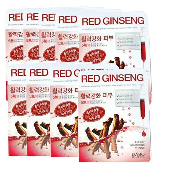 Bộ 10 Mặt Nạ Dưỡng Tái Tạo Da Hồng Sâm Dabo Cao Cấp Hàn Quốc