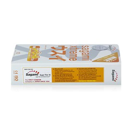 Bao cao su siêu mỏng Sagami Xtreme Superthin hộp 10 chiếc