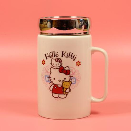 Cốc sứ giữ nhiệt, ly sứ giữ nhiệt có Gương Hello Kitty