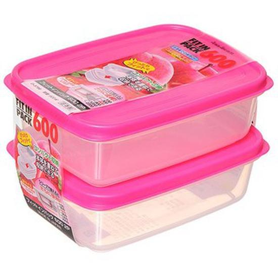 Sanada Seiko- Bộ 2 hộp trữ thức ăn 600ml