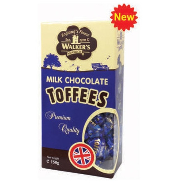 Kẹo Toffees Milk Chocolate Covered 150Gr