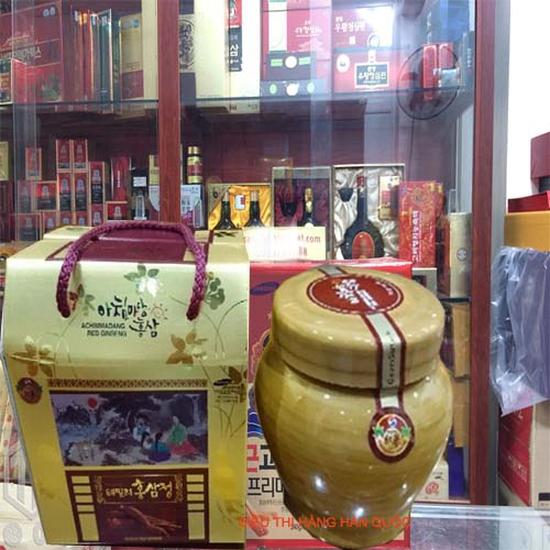 Cao hồng sâm hũ sứ thượng phẩm 1000g Achimmadang đặc biệt tốt cho người cao tuổi tốt