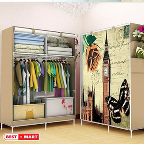 Tủ quần áo 3D 2 buồng 6 ngăn
