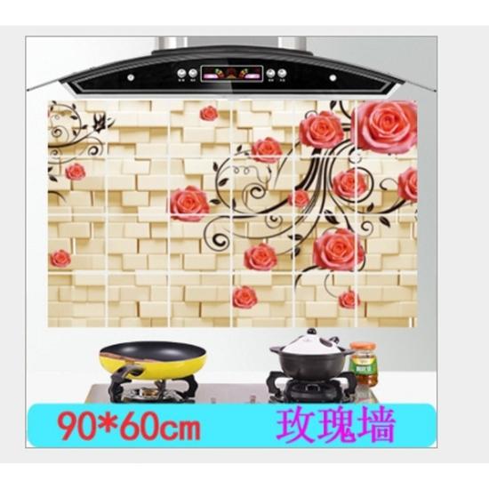 Giấy dán tường nhà bếp chịu nhiệt cỡ đại 60x90(3 tấm)