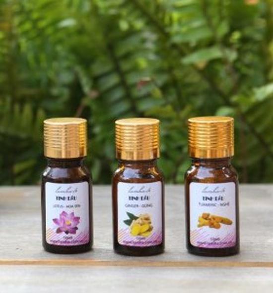 Bộ 2 tinh dầu dâng hương nguyên chất hoa hồng, hoa bưởi