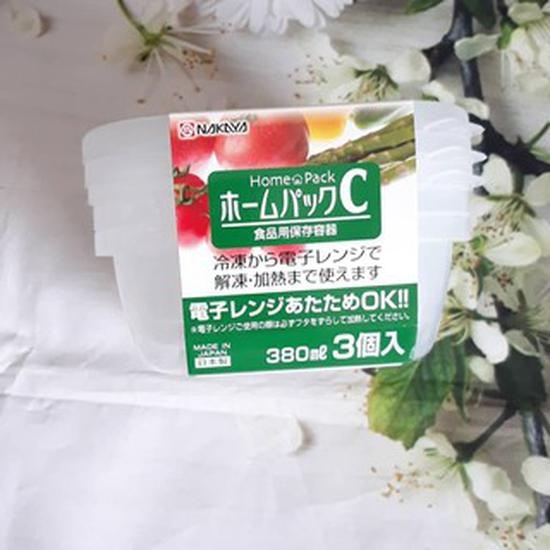 Set 03 hộp đựng thức ăn chịu nhiệt Nhật Bản