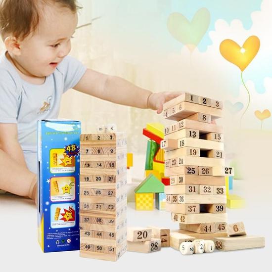 Bộ trò chơi rút gỗ 54 thanh luyện khéo tay cho bé