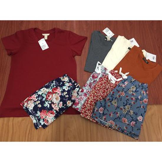 Bộ quần áo hoa nhí